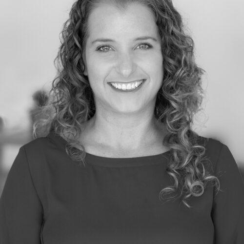Black and white headshot of Joanna McFarland.
