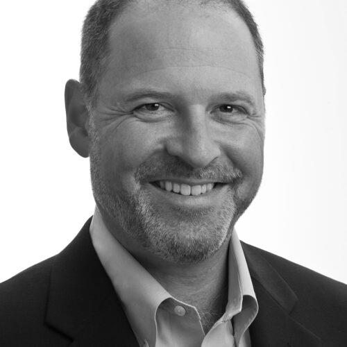 Matt Blumberg, black and white headshot photo.